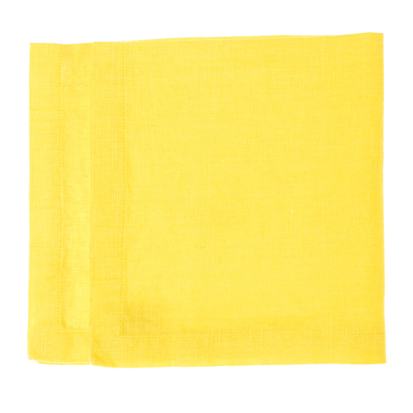 linen napkin yellow stonewashed