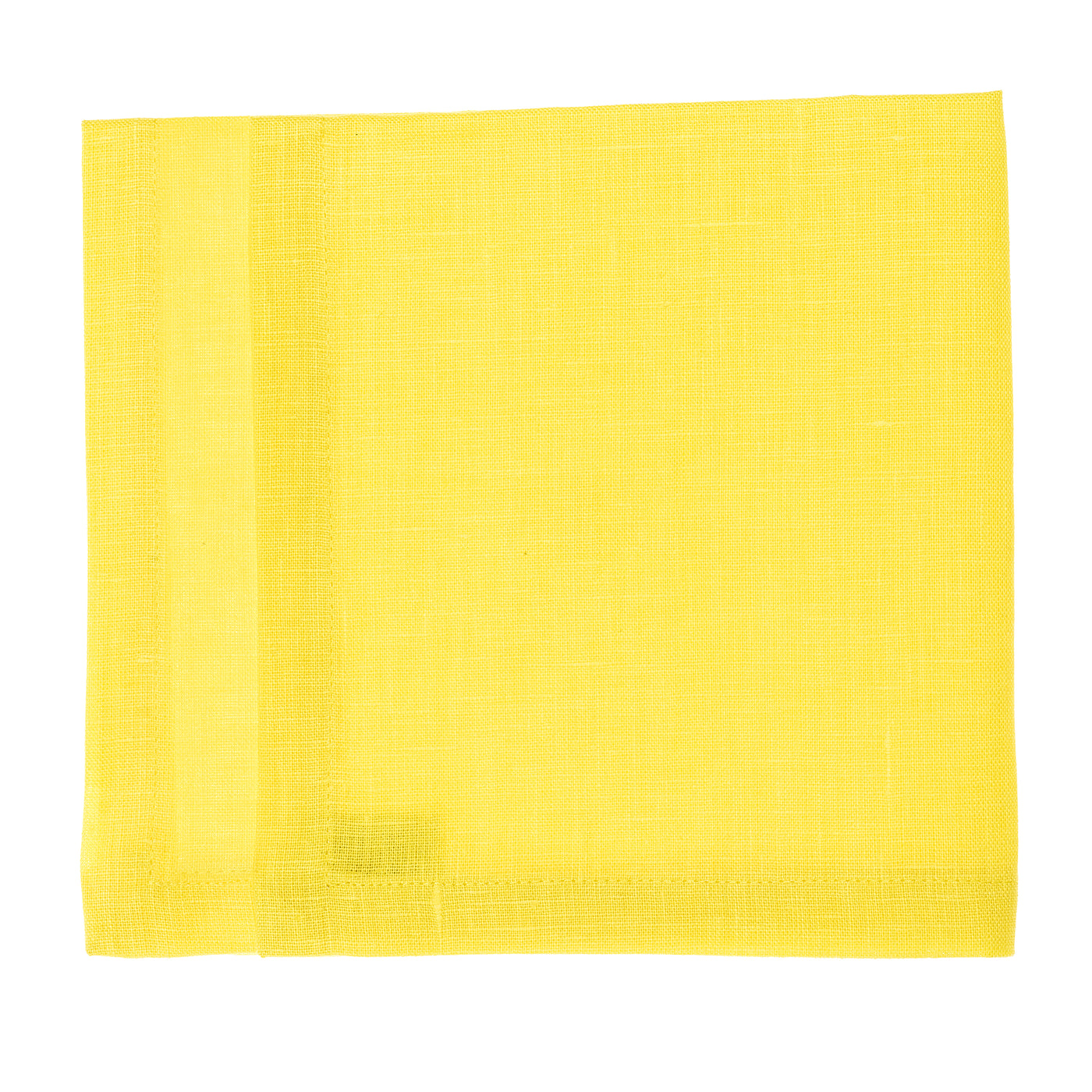 linen napkin yellow
