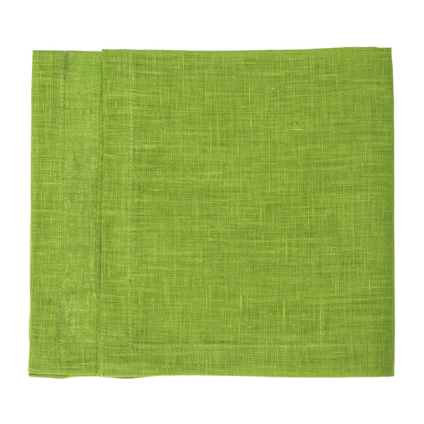 linen napkin lime green
