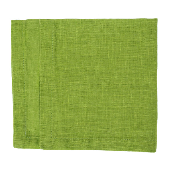 linen napkin stonewashed lime green