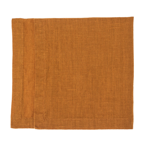 linen napkin amber washed