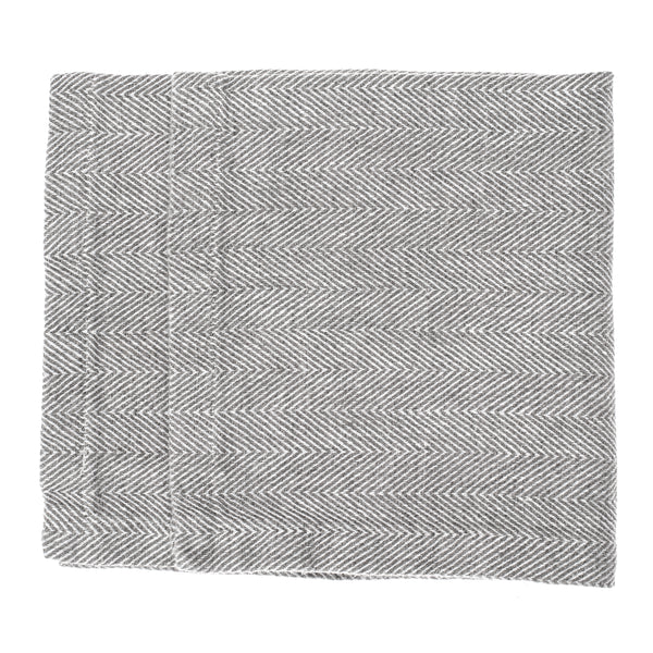 linen napkin grey fishbone stonewashed