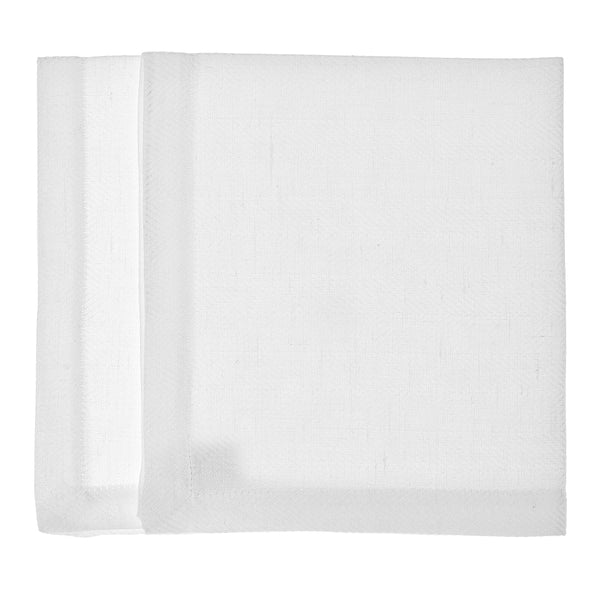 linen placemat fishbone white