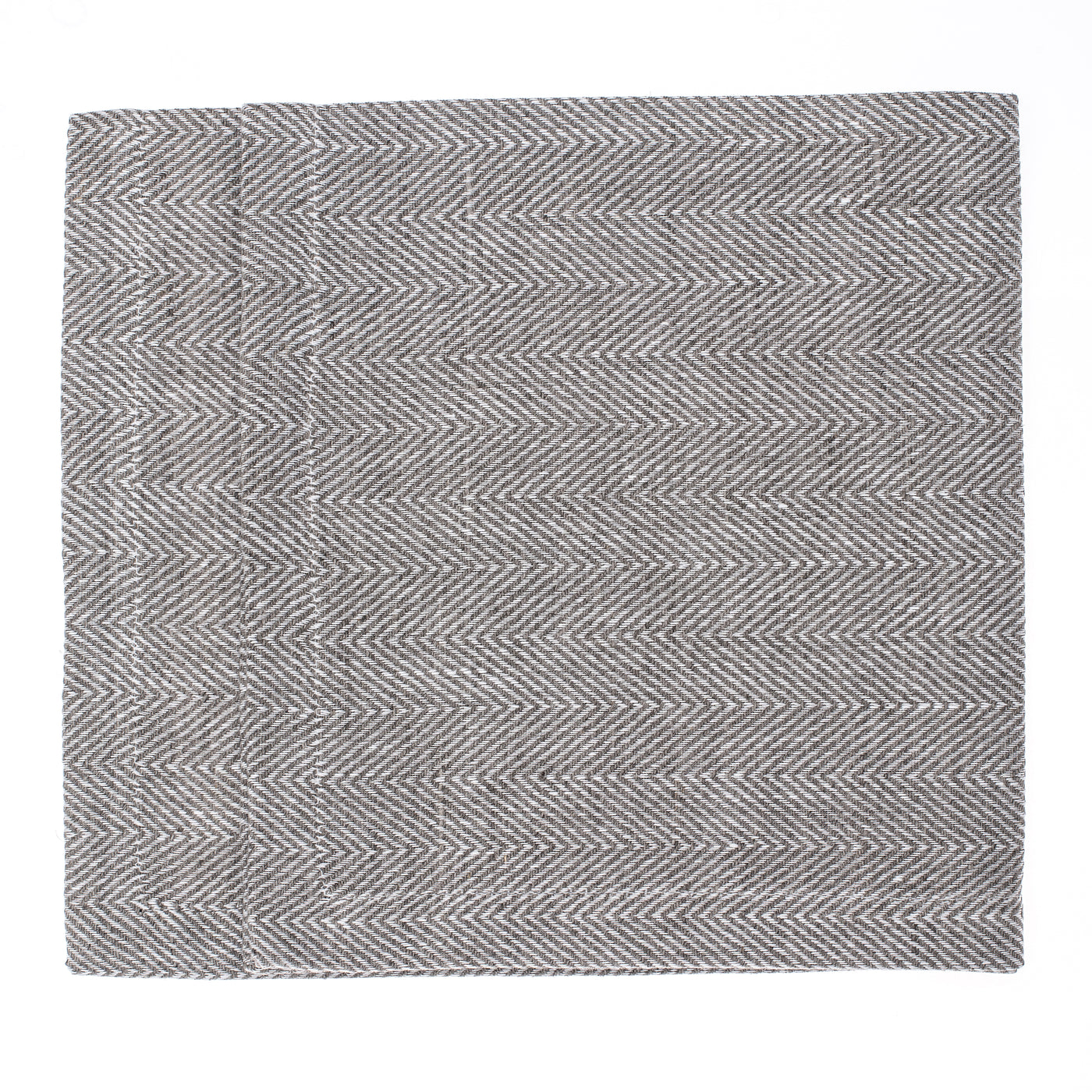 linen placemat fishbone grey