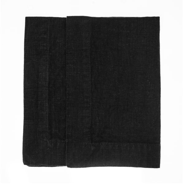 linen placemat stonewashed black
