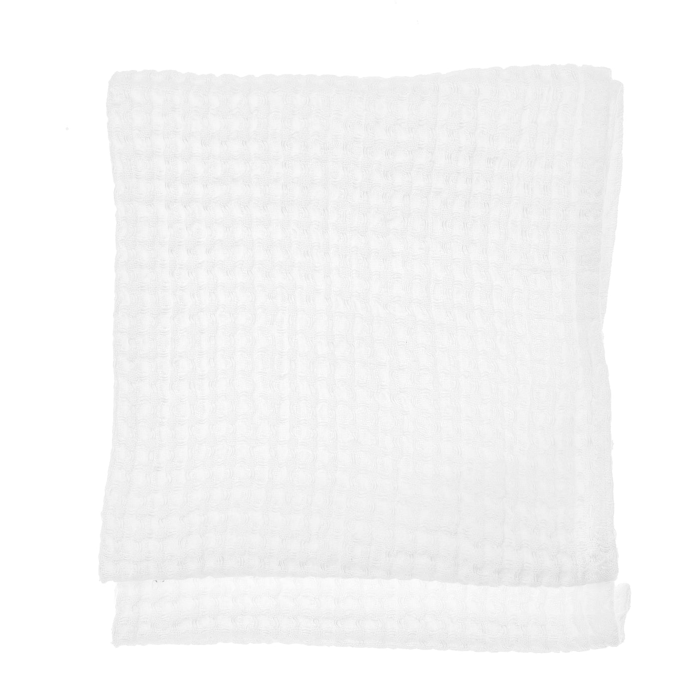 linen towel waffle swan white face