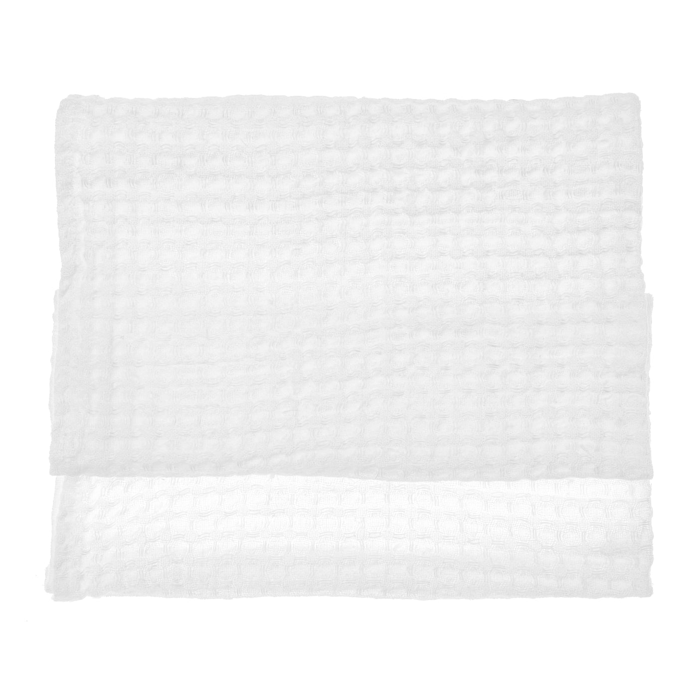 linen towel waffle swan white hand