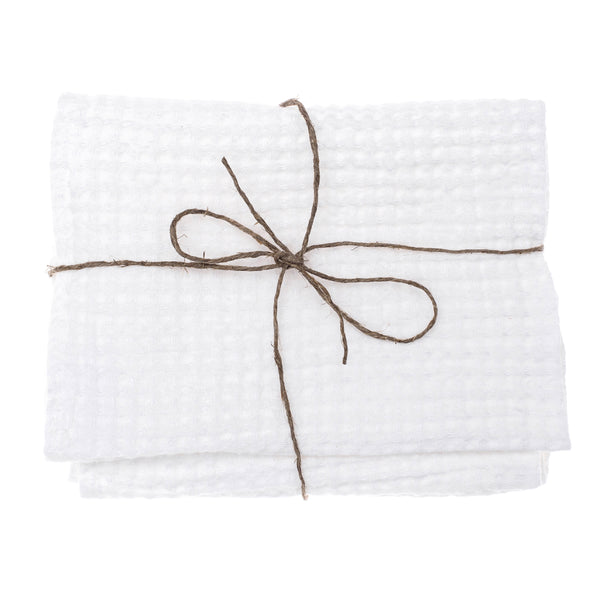 linen towel waffle swan white set face hand