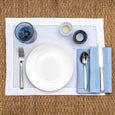 linen napkin light blue linen placemat stonewashed white