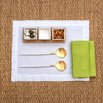 linen napkin lime green linen placemat stonewashed white