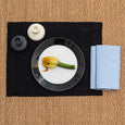 linen napkin light blue linen placemat stonewashed black
