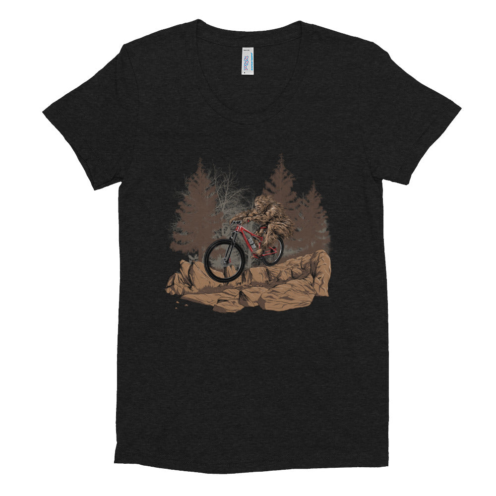 Big Foot Rides Women's Crew Neck T-shirt