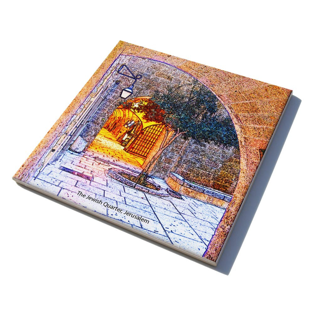 Ceramic trivet jewish gifts for the home israeli gifts ofek israeli ceramic tiles dailygadgetfo Images
