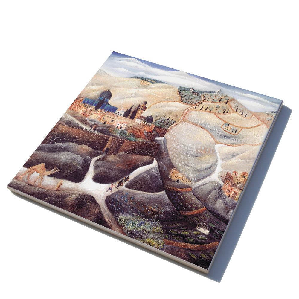 Ceramic trivet jewish gifts for the home israeli gifts ofek jewish ceramic tiles dailygadgetfo Images