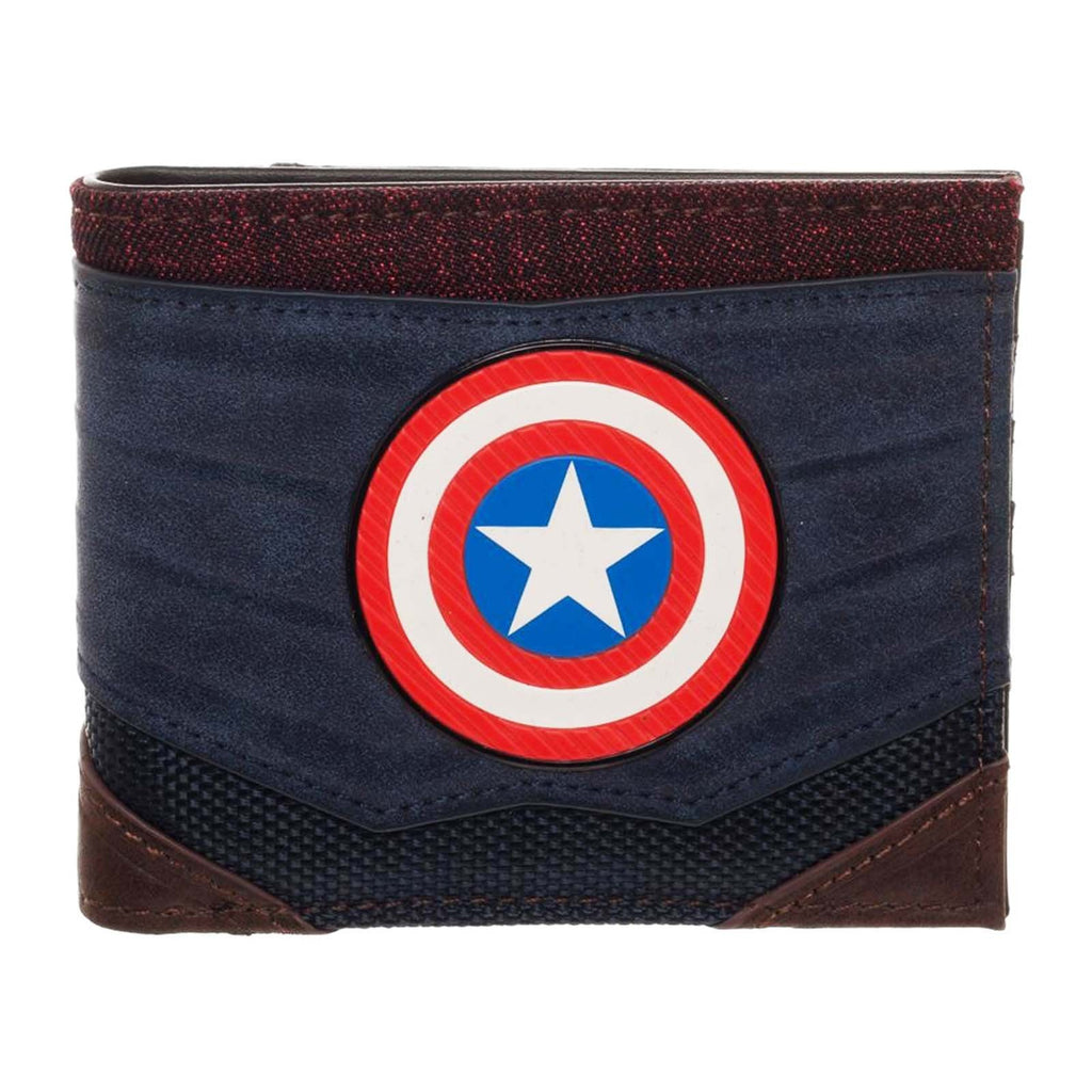 Captain America Chrome Weld Patch Bi-fold Wallet - Toypocalypse