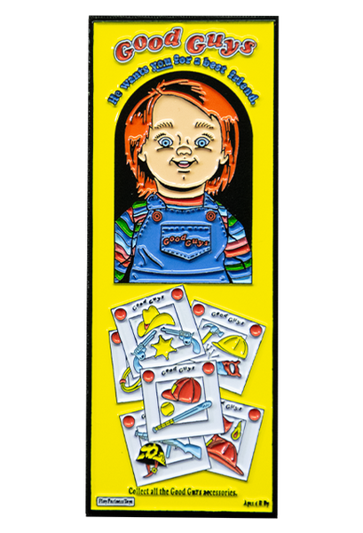 CHILD'S PLAY 2 - GOOD GUYS BOX ENAMEL PIN - Toypocalypse