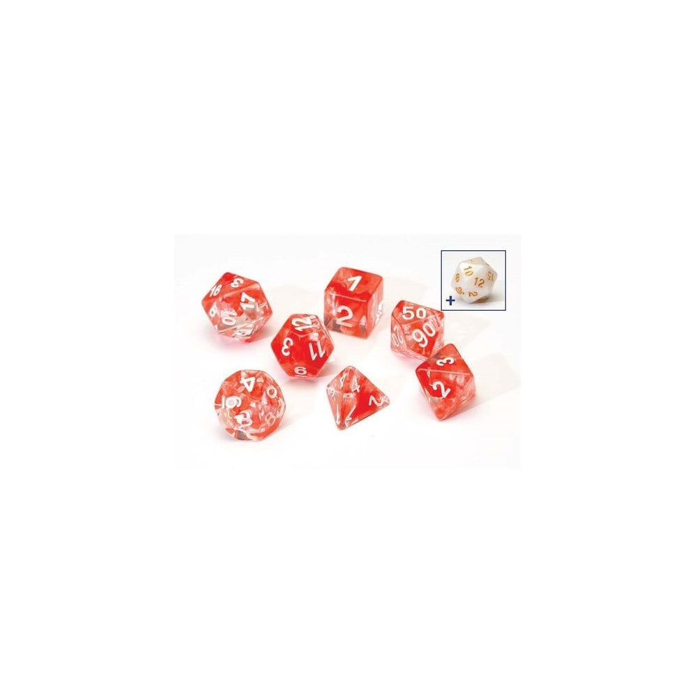 SIRIUS DICE - RED CLOUD TRANSPARENT 7 DIE SET - Toypocalypse