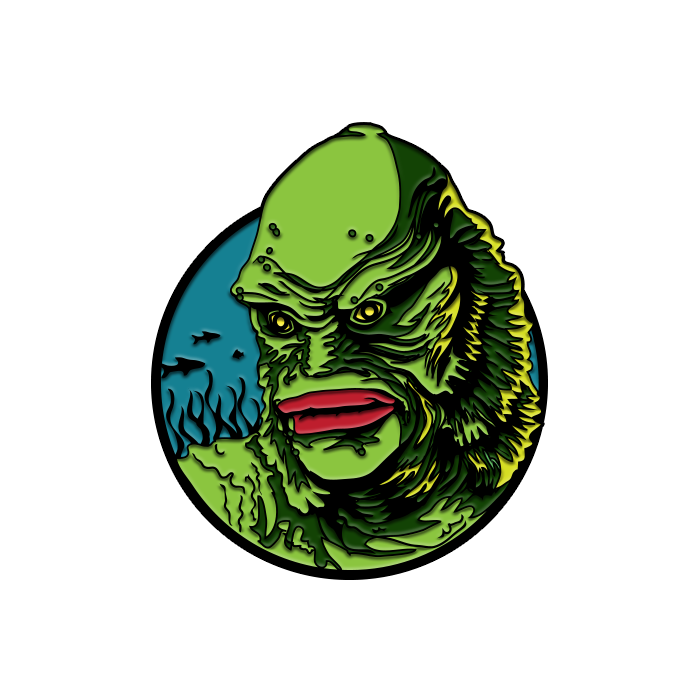 UNIVERSAL CLASSIC MONSTER - CREATURE FROM THE BLACK LAGOON ENAMEL PIN freeshipping - Toypocalypse