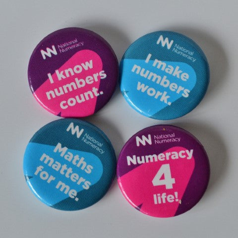 Numeracy Badges - Pack of 16 (4 designs)