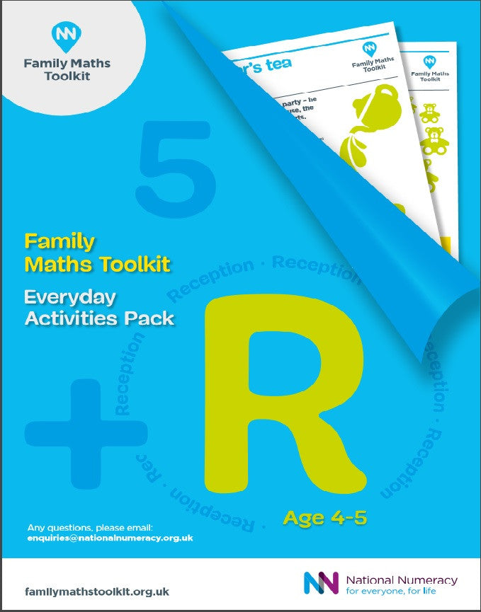 Family Maths Everyday Activities Pack - Reception (Age 4-5)