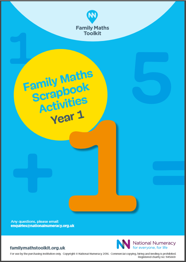 Family Maths Activities Pack for Schools – Year 1 (Age 5-6) - Download