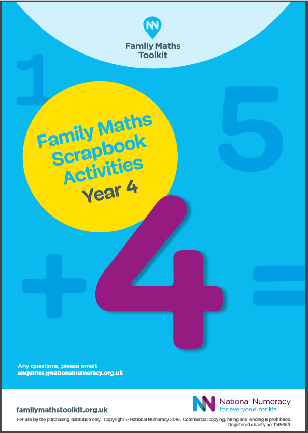 Family Maths Activities Pack for Schools – Year 4 (Age 8-9) - Paper Version