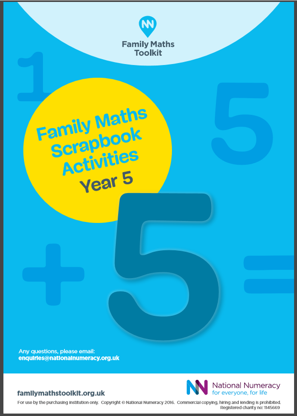 Family Maths Activities Pack for Schools – Year 5 (Age 9-10) - Paper Version