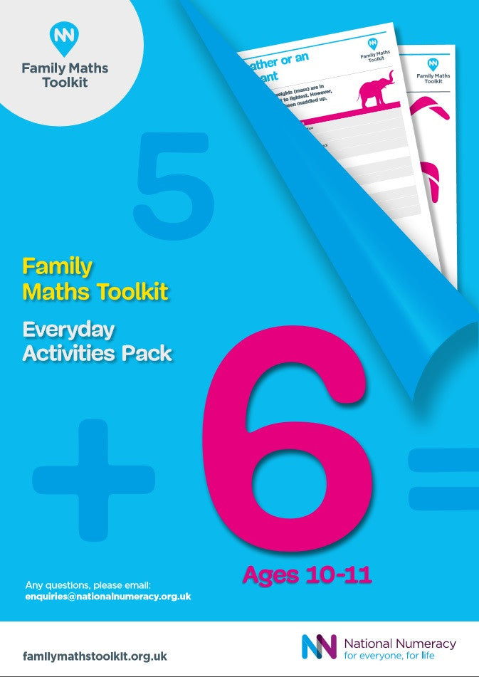 Family Maths Everyday Activities Pack - Year 6 (Age 10-11)