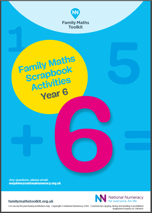 Family Maths Activities Pack for Schools – Year 6 (Age 10-11 ...