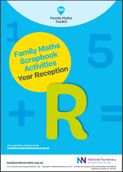 Family Maths Activities Pack for Schools – Reception (Age 4-5) - Paper Version