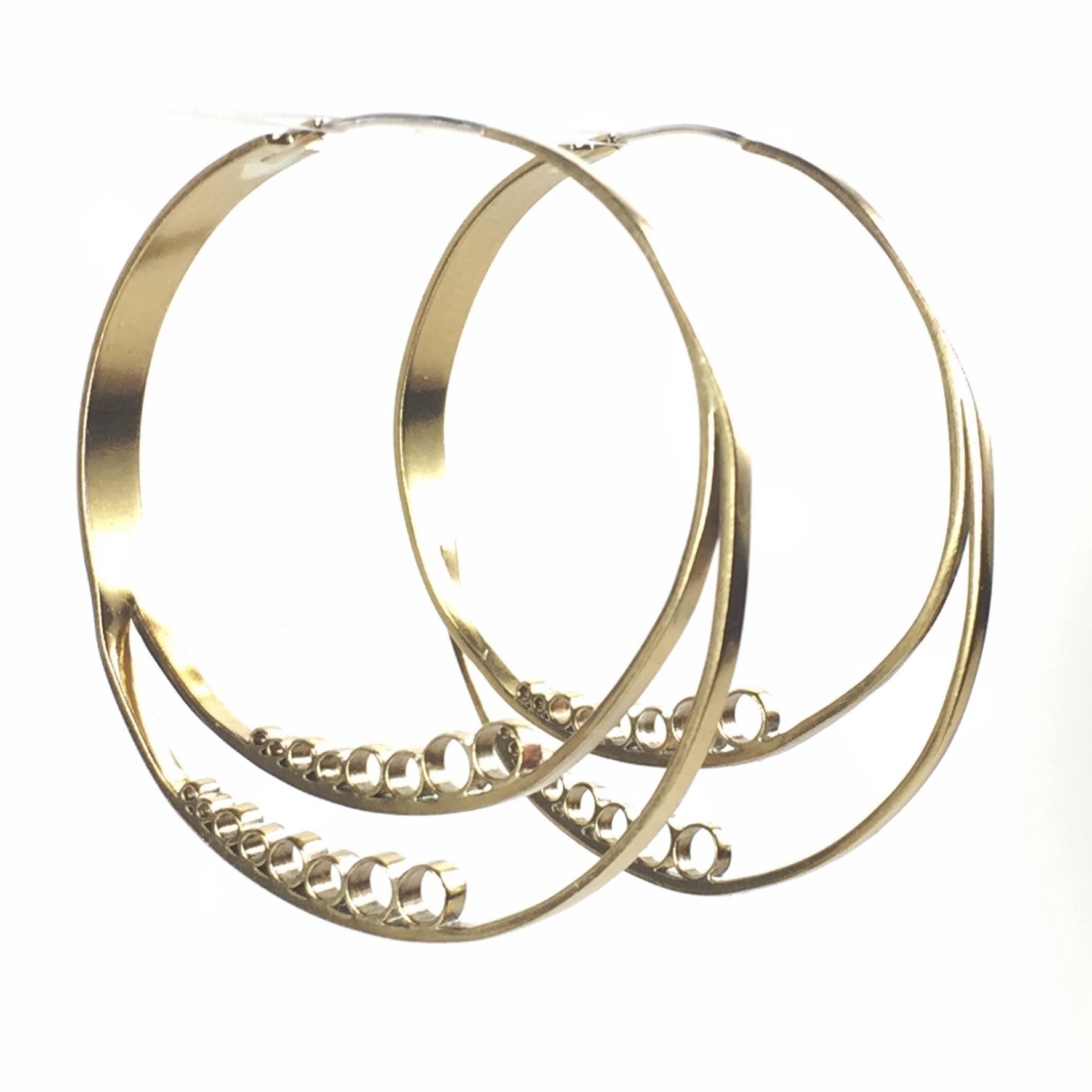 CENTRIFUGAL BRASS MINIMAL HOOPS