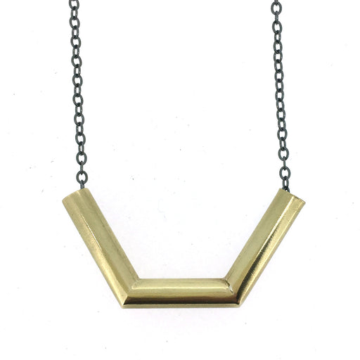 Angle Tube Necklace BRASS