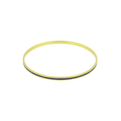 "Astro Black Pigmented Concrete Brass Bangle Bracelet Narrow Gauge 1/8"" or 3mm width"
