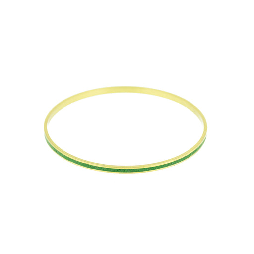 "Ocean Pigmented Concrete Brass Bangle Bracelet Narrow Gauge 1/8"" or 3mm width"