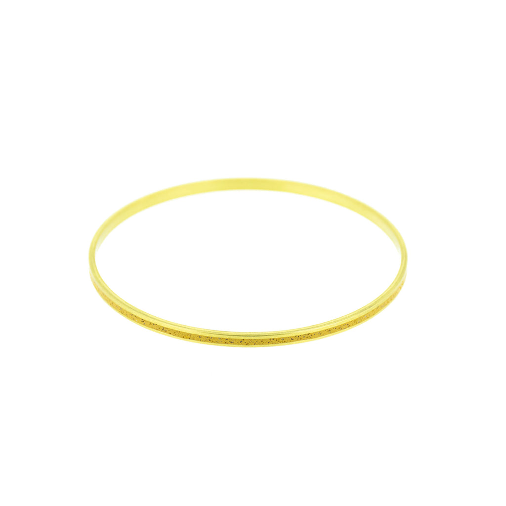 "Curry Brown Pigmented Concrete Brass Bangle Bracelet Narrow Gauge 1/8"" or 3mm width"