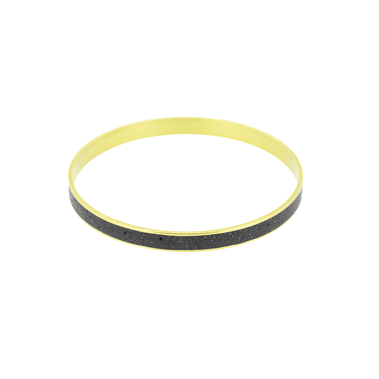 Standard Gauge Bangle Bracelet BRASS + CONCRETE Black