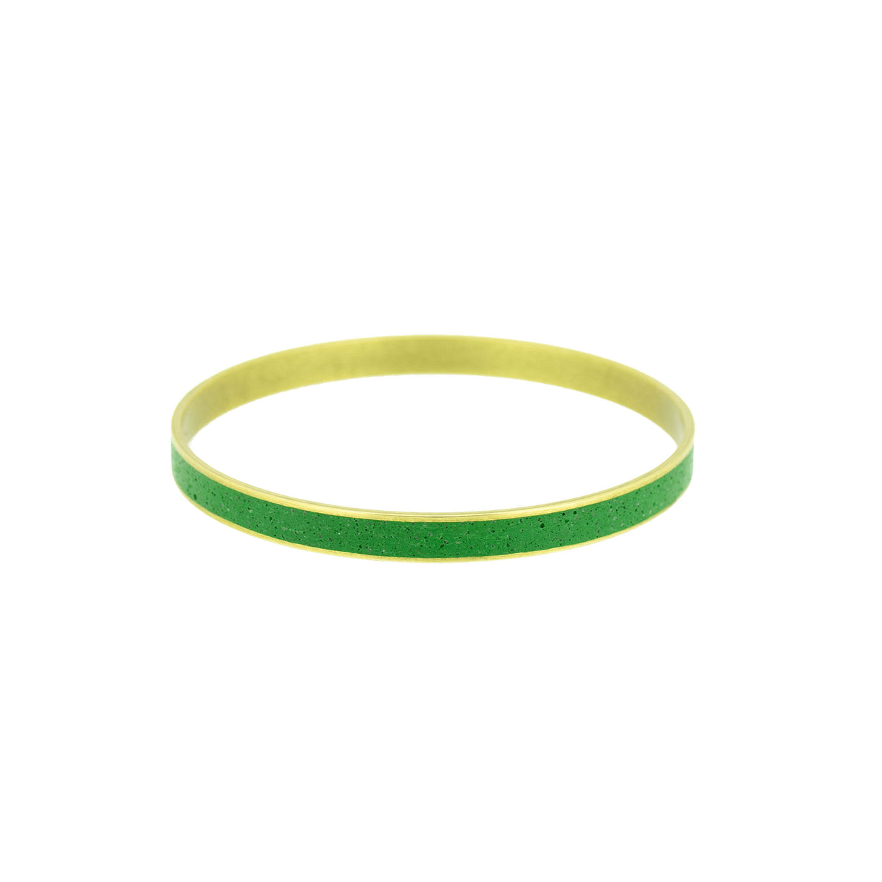 Standard Gauge Bangle Bracelet BRASS + CONCRETE Green