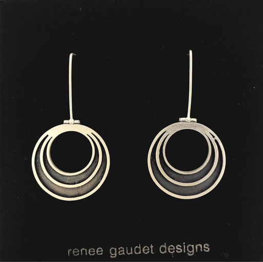 Halo Hinged Earrings SILVER