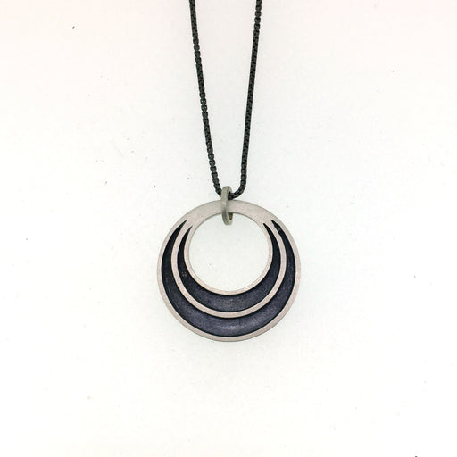 Halo Hinged Necklace SILVER