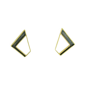 Not Round Earrings BRASS