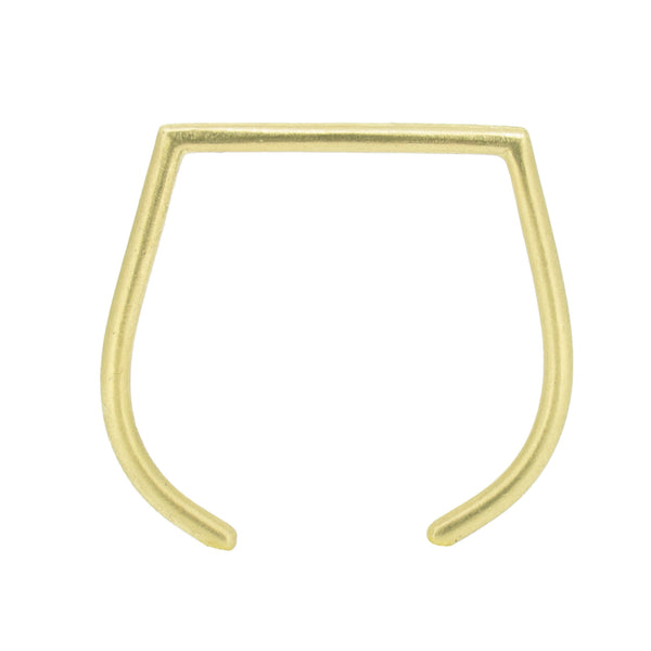 Simple cuff bracelet in brass