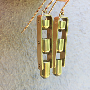 TRIPLE TRAPEZE EARRINGS