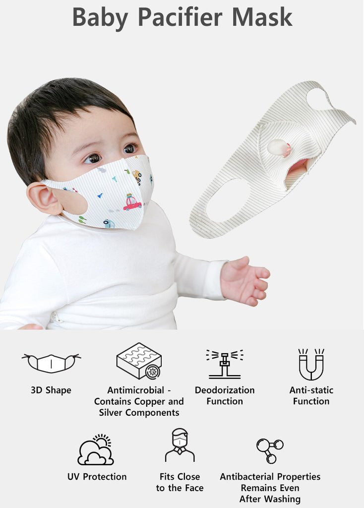 Antimicrobial Baby Reusable 3D Pacifier Mask BBN1084