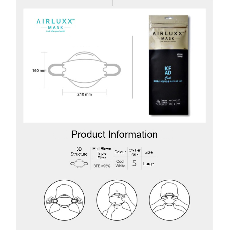 Airluxx AF-AD Disposable Mask (5-Piece Pack)