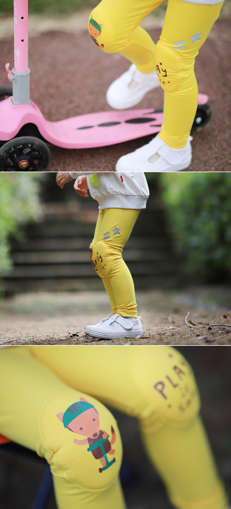 Yellow Fox Kids Knee Cushion Protective Leggings OZ1042