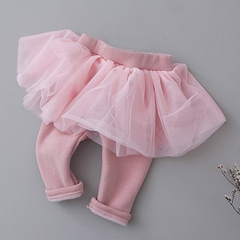Pink Leggings With Tulle Skirt 10LP16P