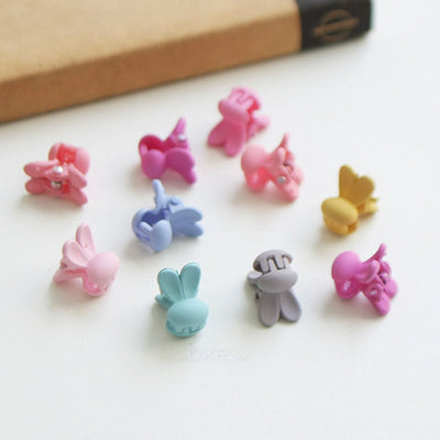 Mini Bunny Hair Clips (Set of 10) 11AA5 - Minitotz