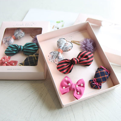 Mary Jane Hair Clips Set (Set of 5) 12AA9 - Minitotz