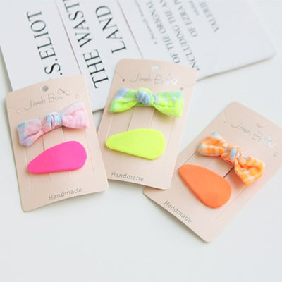 Diva Mix Ribbon Hair Clips Set (Set of 2) 8AA1