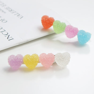 Sugar Hearts Hair Clips (Set of 2) 8AA3